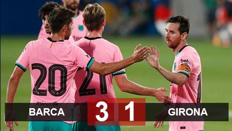 Messi tái xuất với siêu phẩm, Barca kiểm soát thế trận thắng Girona 3-1