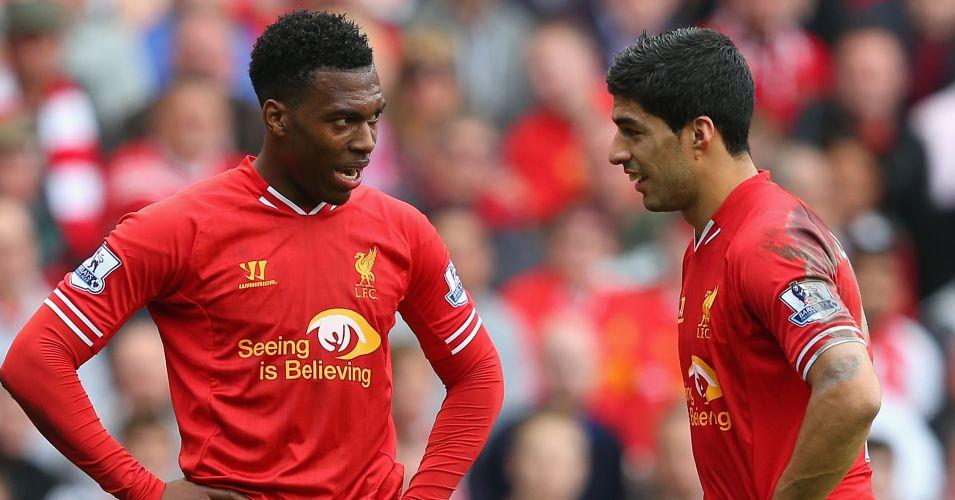 Bộ đôi Luis Suarez và Daniel Sturridge đứng thứ ba trong Top cặp đôi tấn công hàng đầu tại Premier League