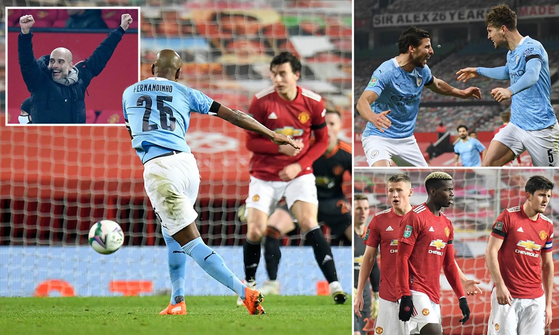 Đánh bại Man Utd, Man City bước vào chung kết Carabao Cup