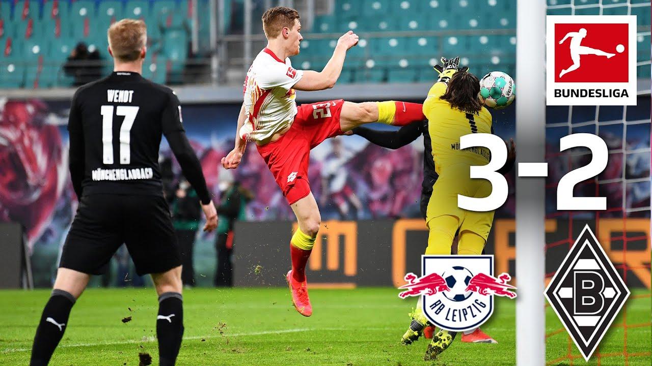 BẢN TIN BÓNG ĐÁ - RB Leipzig đạt được mục tiêu với chiến thắng sít sao 3-2 trước Gladbach