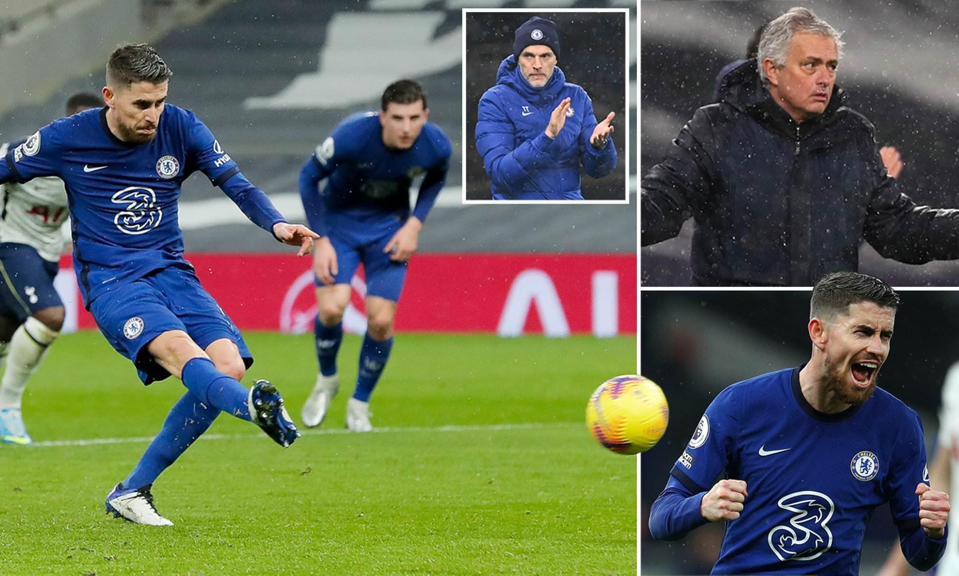 Cú phạt đền của Jorginho mang về chiến thắng cho Chelsea trong trận derby London