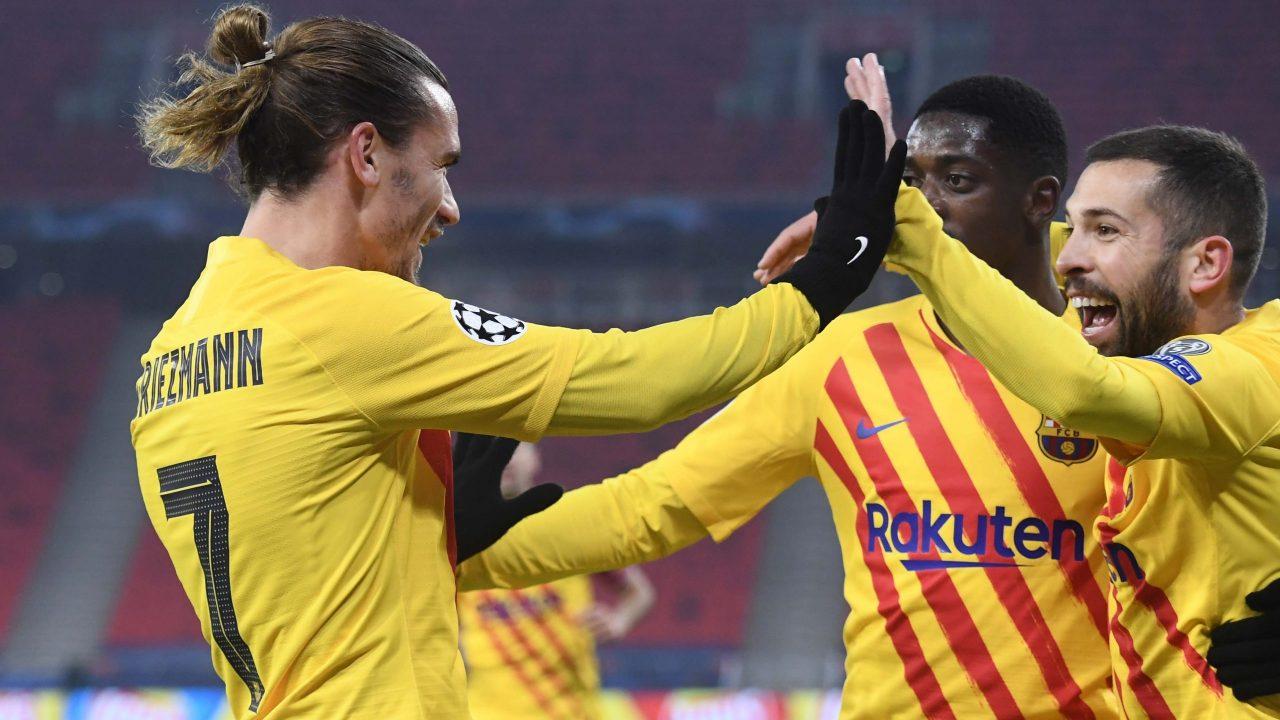 Griezmann đã sớm mở tỷ số cho Barca