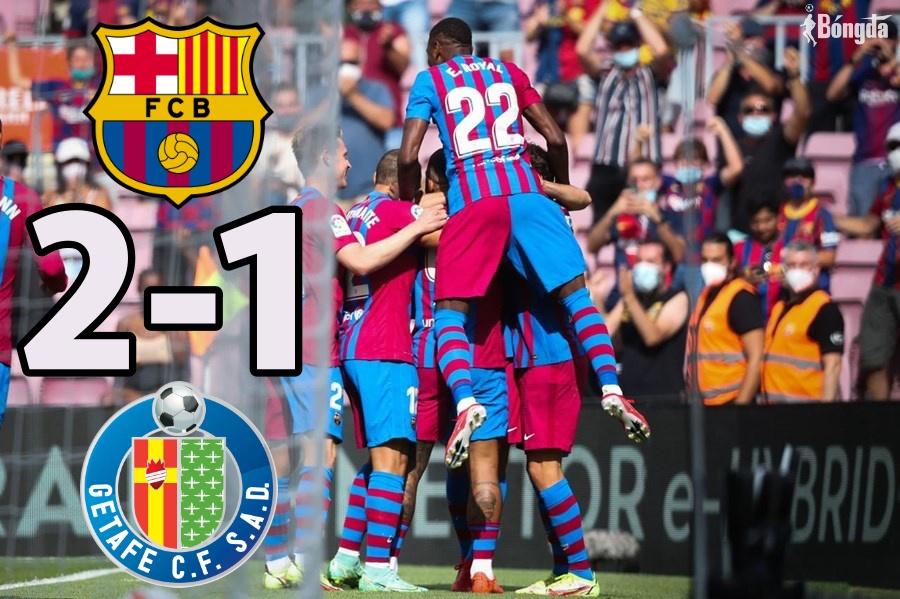 Vắng Messi, Barca nhọc nhằn chiến thắng trước Getafe