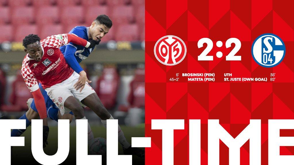 Mainz - Schalke 04 hoà 2-2, vẫn chưa có chiến thắng đầu tiên