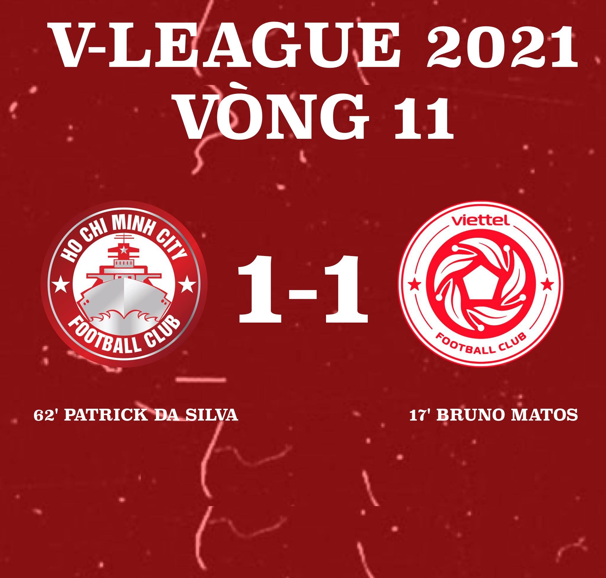 CLB Viettel 1-1 CLB TP.HCM: Bất phân thắng bại