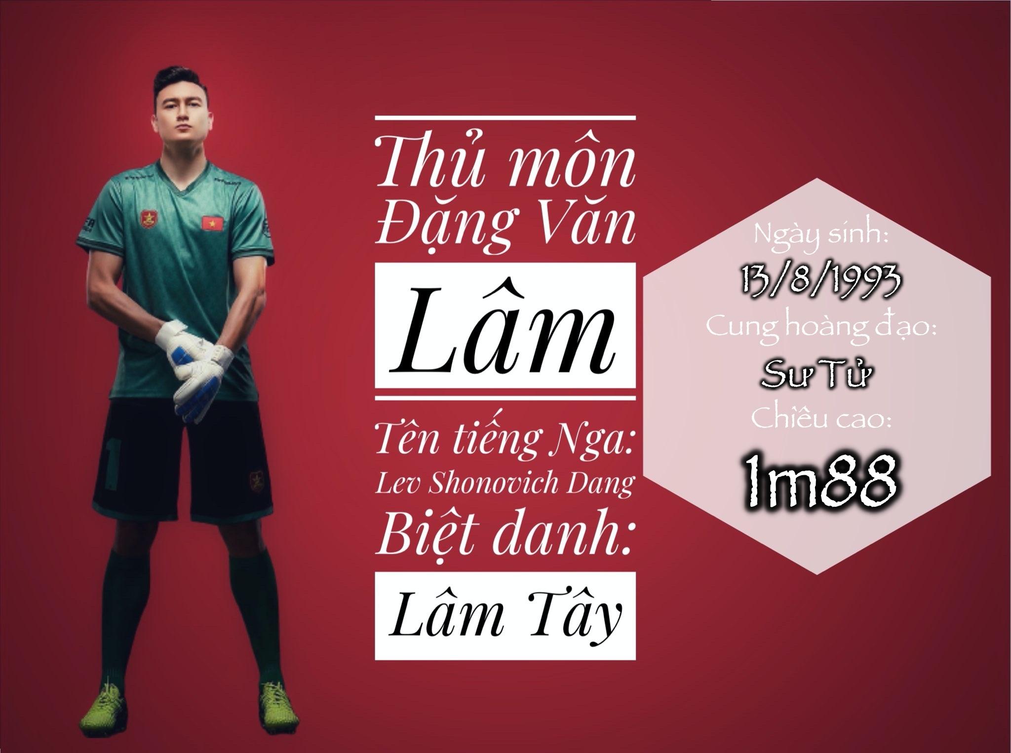Thủ môn Đặng Văn Lâm lọt Top 3 cầu thủ cao nhất Việt Nam