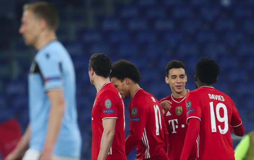 Bayern Munich đánh bại Lazio 4-1 khi Jamal Musiala và Robert Lewandowski làm nên lịch sử Champions League