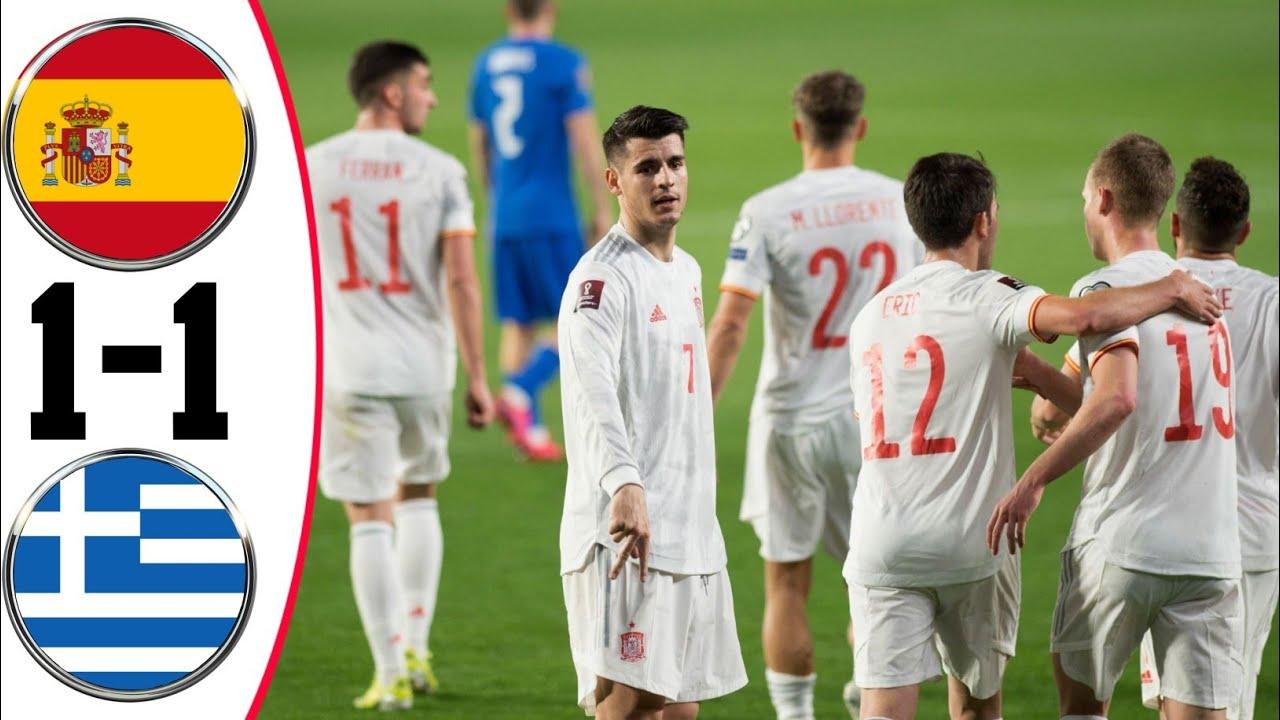 Tây Ban Nha 1-1 Hy Lạp: Tây Ban Nha giữ một điểm trong trận mở màn vòng loại World Cup
