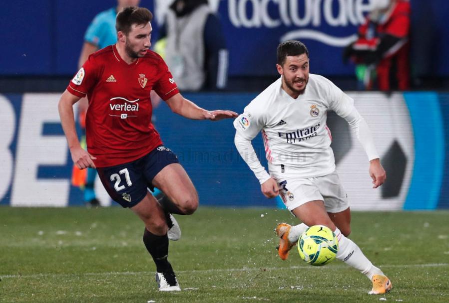 Sự trở lại mờ nhạt của Hazard khi không được thi đấu liên tục tại Real Madrid