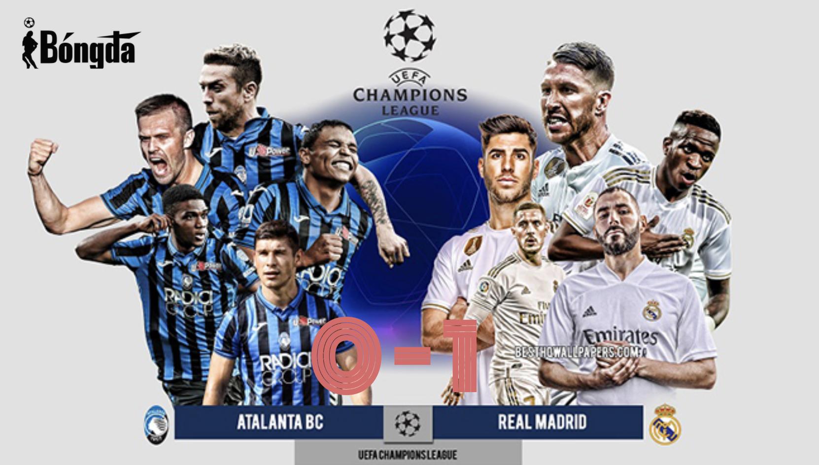 Atalanta 0-1 Real Madrid: Los Blancos thắng muộn trước đội bóng 10 người