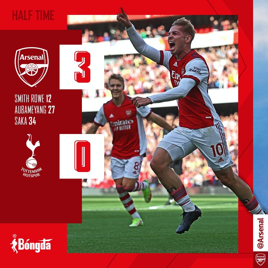 Arsenal 3-1 Tottenham: Pháo thủ bùng nổ trong trận derby bắc London