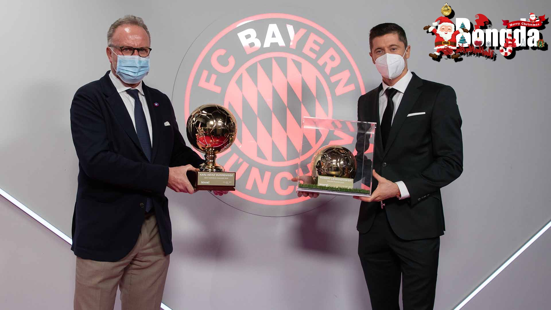 Lewandowski và Rummenigge giành giải thưởng tại buổi dạ tiệc Golden Boy