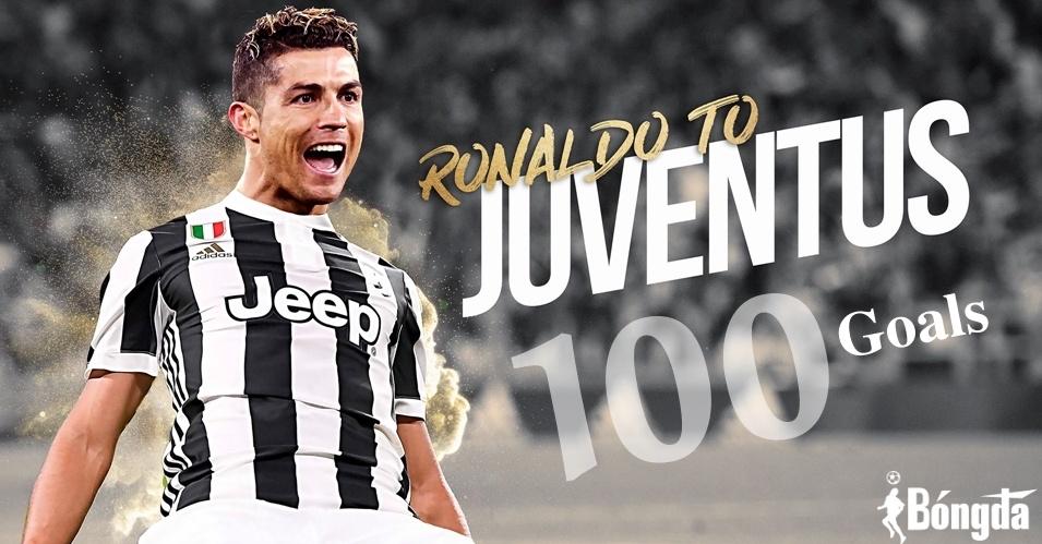 Ronaldo đạt 100 bàn thắng cho Juventus ngoạn mục đến khó tin