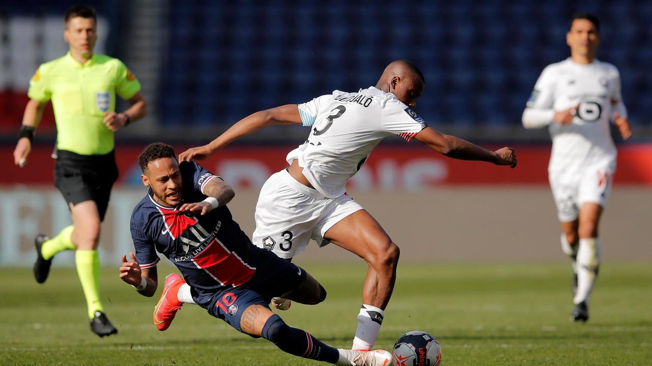 PSG sắp mất danh hiệu Ligue 1 sau thất bại trước Lille
