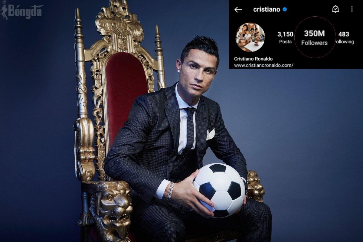 350 triệu follow trên Instagram, Ronaldo trở thành ông trùm MXH