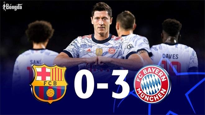 Lewandowski thăng hoa, Bayern Munich nhấn chìm Barca ở Nou Camp