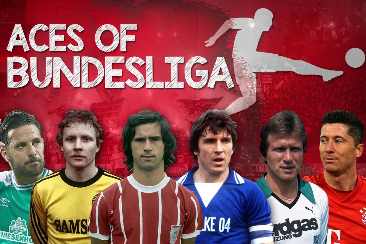 Ulf Kirsten, Stefan Kuntz, Dieter Müller, Klaus Allofs lần lượt ở 4 vị trí cuối top 10