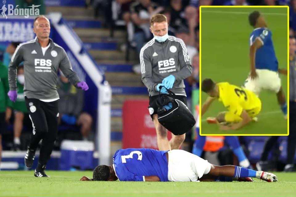 Leicester City đánh bại Villarreal, trung vệ Wesley Fofana gãy chân kinh hoàng