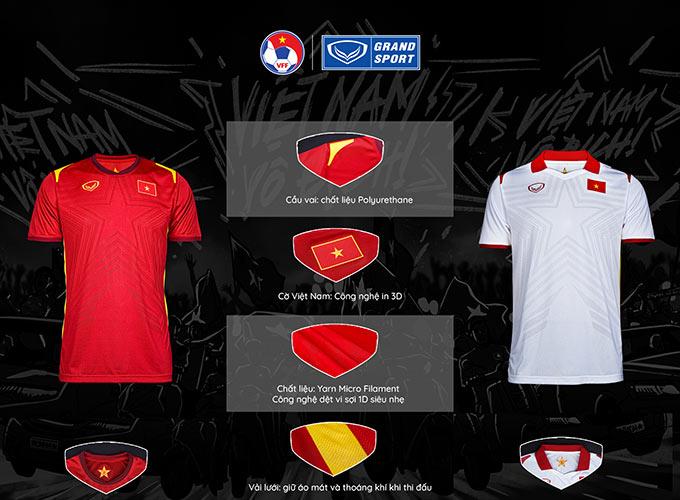 ĐTQG Việt Nam trình làng mẫu áo đấu 2021
