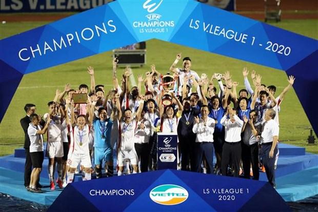 Đánh gục Sài Gòn, Viettel trở thành tân vương V-League 2020