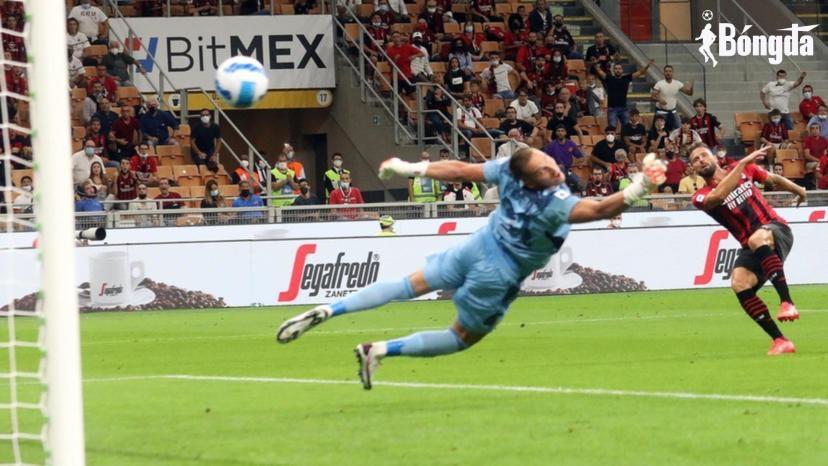 Serie A: Cú đúp của Olivier Giroud giúp AC Milan đánh bại Cagliari, Tammy Abraham ghi bàn trong chiến thắng 4-0 của Roma.
