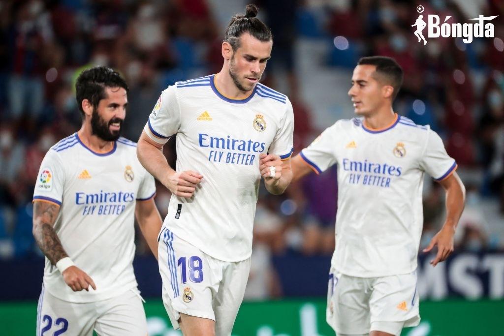 Gareth Bale có bàn thắng đầu tiên trong cuộc chiến 3-3 với Levante tại La Liga 2021/22