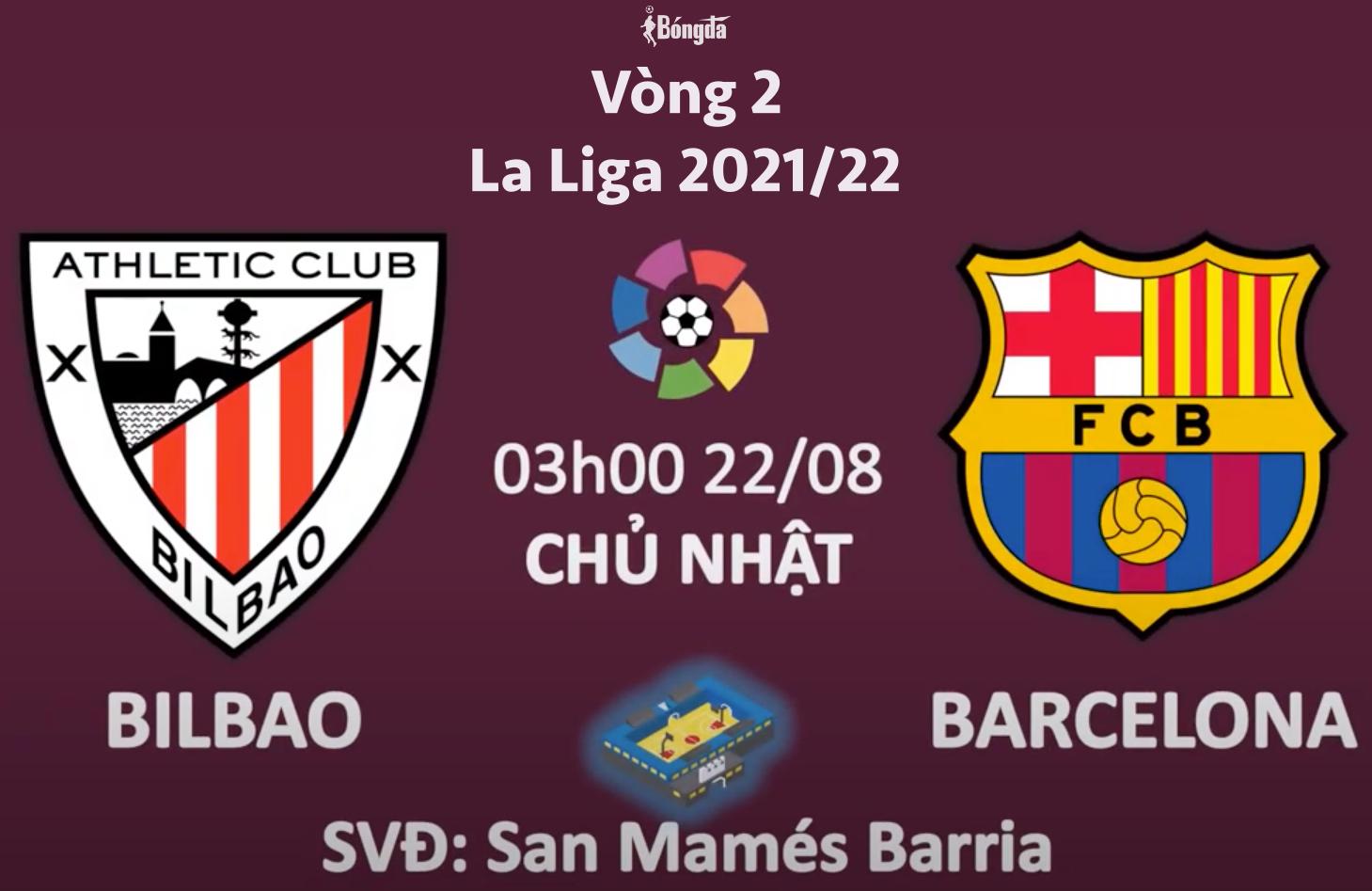 Nhận định A.Bilbao vs Barcelona 22/8: Barca vắng Messi tưởng không mạnh, thật ra mạnh không tưởng