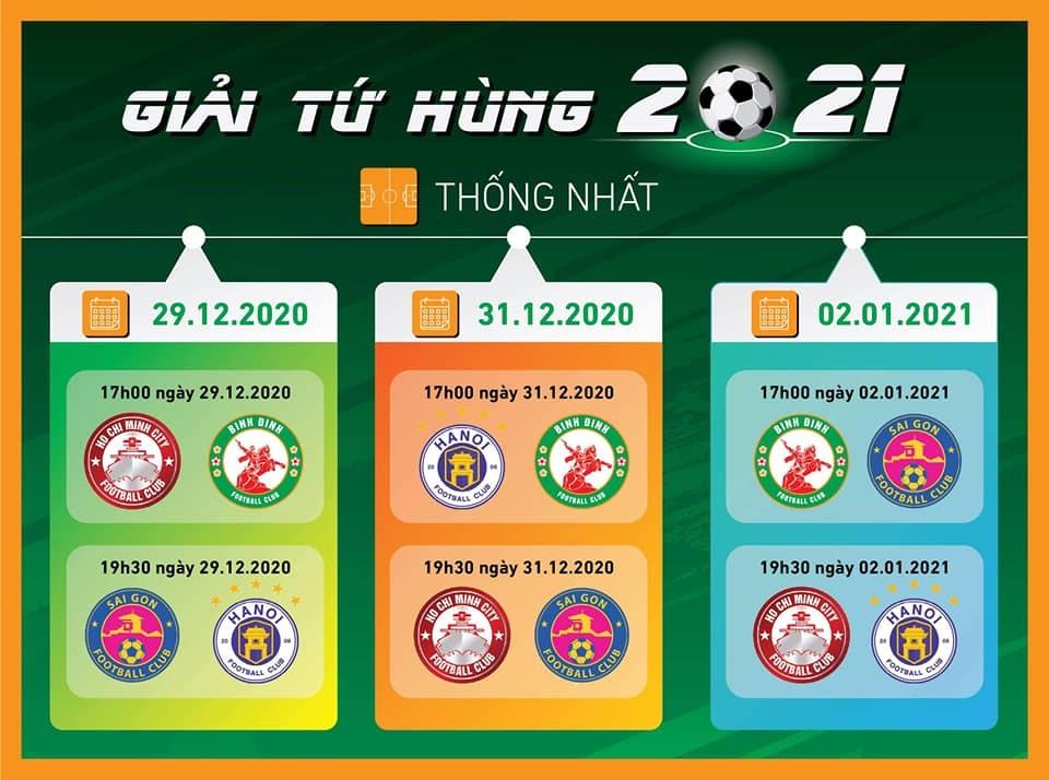 Giải Tứ Hùng: Bước đệm cho V-League 2021