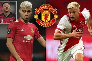 Hai ngôi sao của Man United sẽ rời đi để rành chỗ cho Van de Beek?