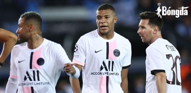 Bị cầm hoà tại Champions League, Lionel Messi, Neymar và Mbappe bị HLV trách móc