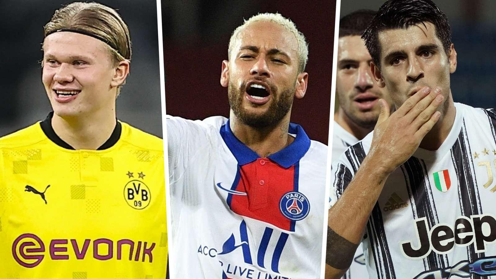 Vua phá lưới Champions League 2020-21: Haaland, Neymar và Morata đang dẫn đầu danh sách
