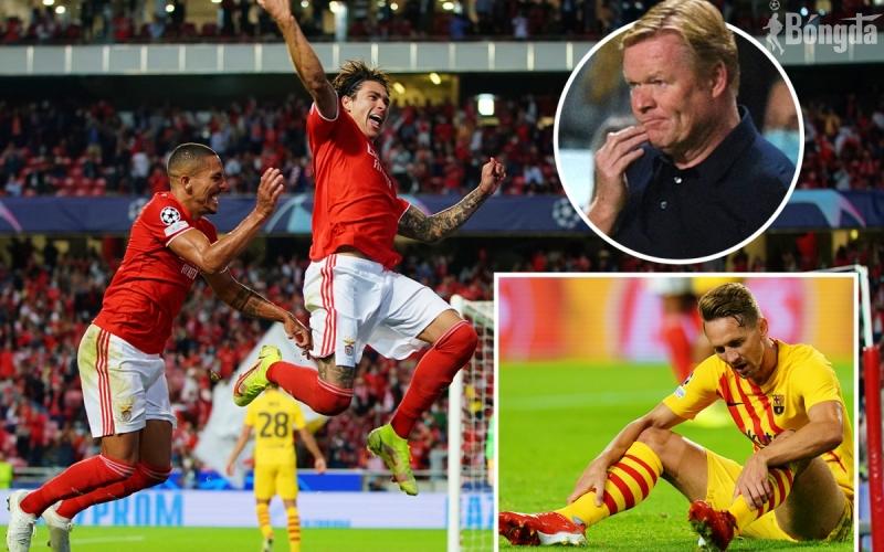 """HLV Koeman """"mạnh miệng"""" sau trận thua bạc nhược của Barca trước Benfica"""