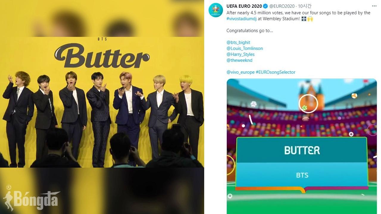 HOT: Drama bùng nổ khi ca khúc 'Butter' của BTS được EURO 2020 lựa chọn