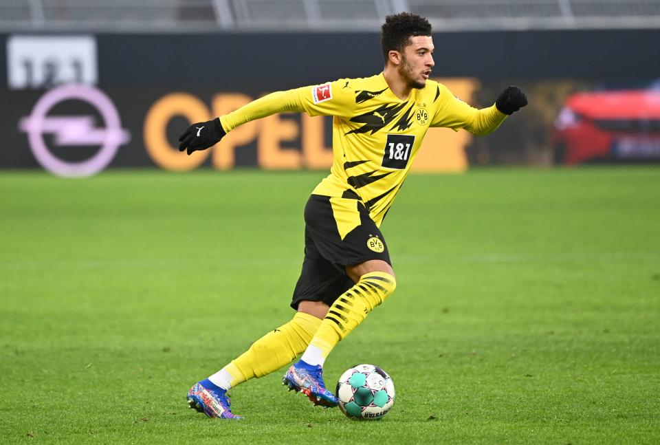 Jadon Sancho của Borussia Dortmund có nguy cơ ngồi ngoài tứ kết Cúp C1