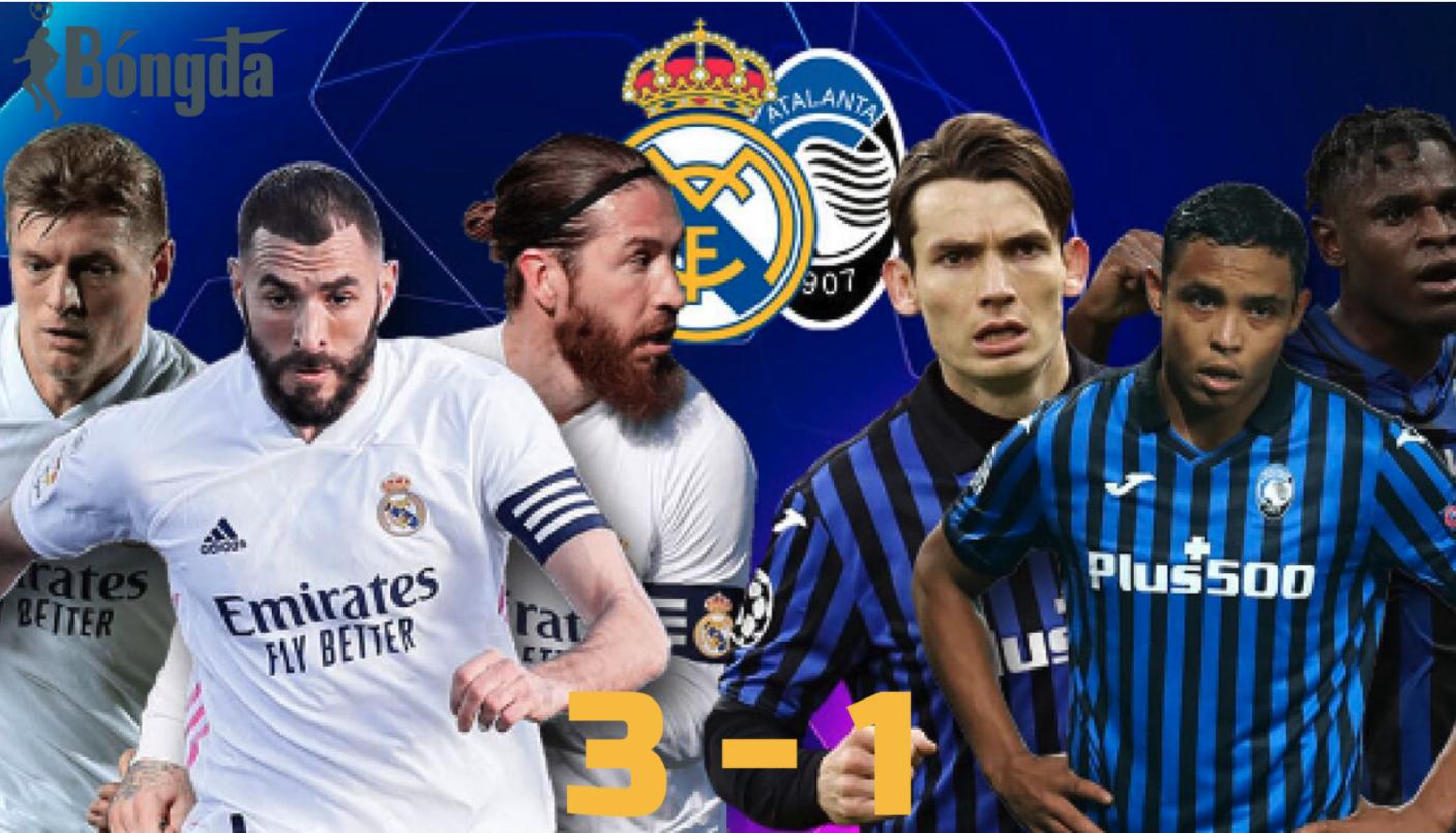 Real Madrid 3-1 Atalanta: Real Madrid đánh bại Atalanta để lọt vào vòng 8 đội Champions League