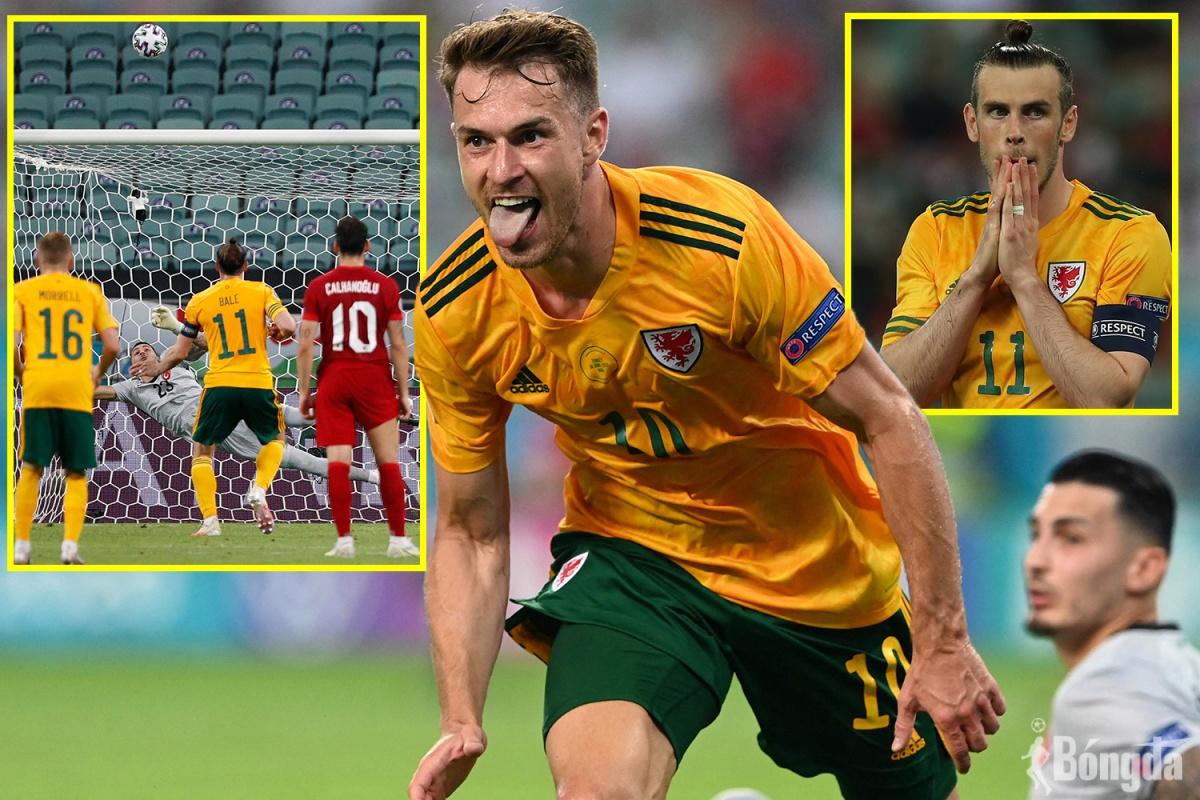 EURO 2020:  Bale hoá người hùng giúp Xứ Wales đánh bại Thổ Nhĩ Kỳ 2-0