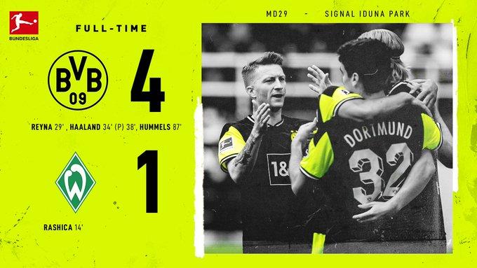 Haaland lập cú đúp, Dortmund có suất dự Champions League?