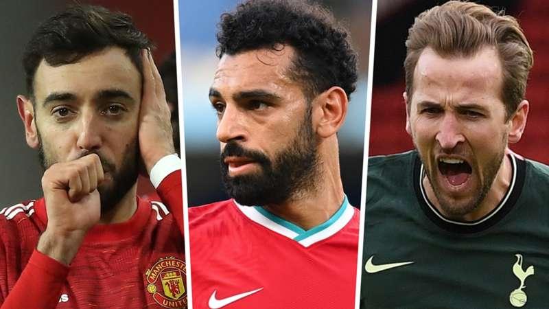 Top săn bàn ngoại hạng Anh 2020-21: Salah, Fernandes và Kane