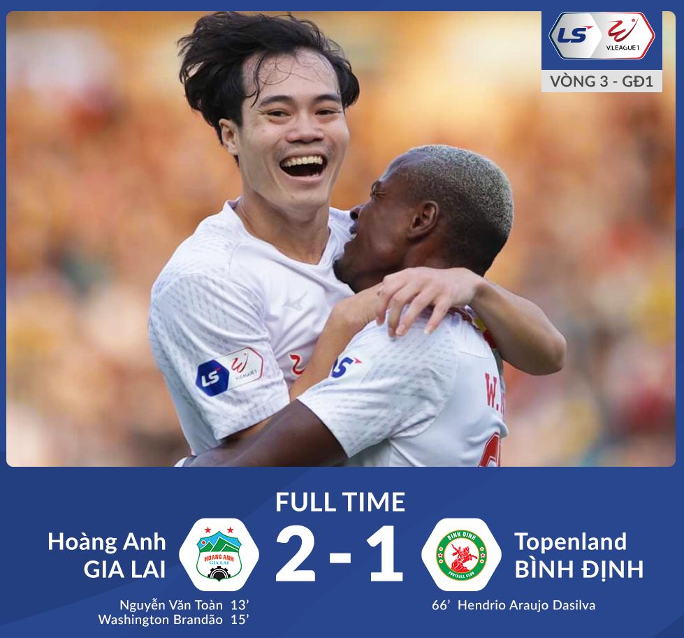 """HAGL 2-1 Bình Định: cuộc chiến giữa 2 hậu vệ phải tuyển Việt Nam cùng 45 phút """"đau tim"""""""