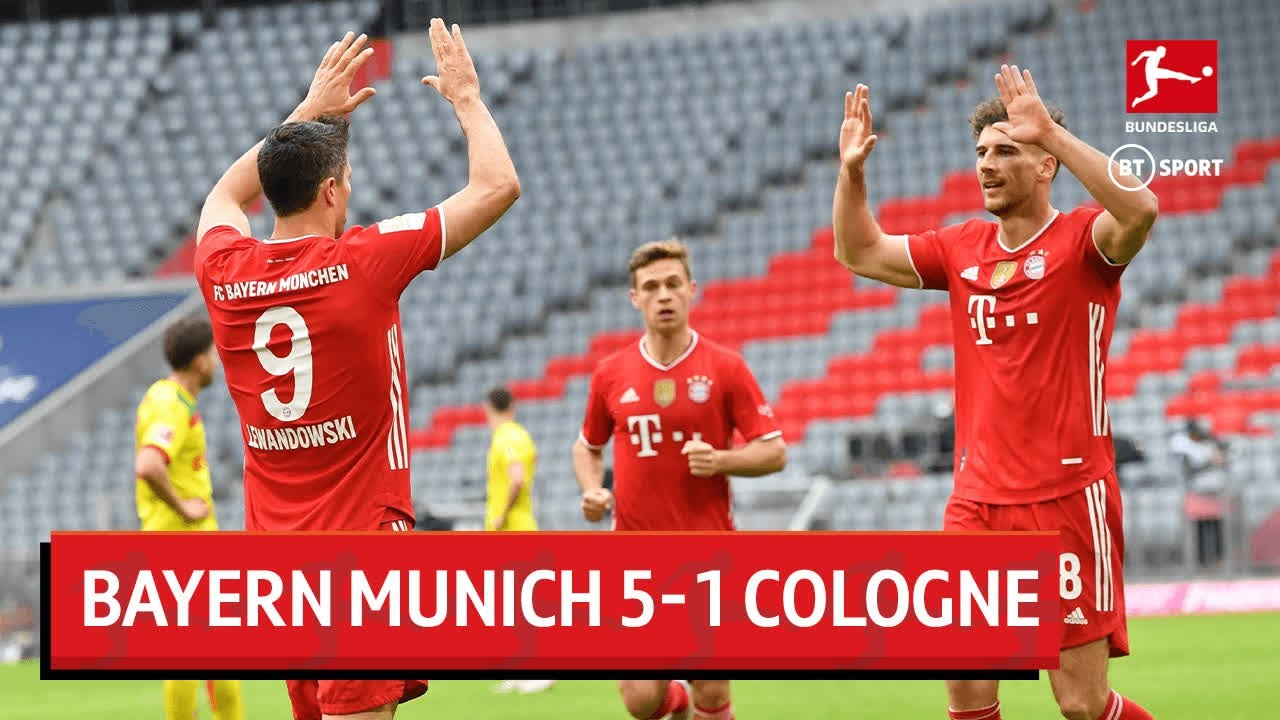 Bayern Munich 5-1 Cologne: Robert Lewandowski và Serge Gnabry lập cú đúp tại Allianz Arena để giúp đội bóng của Hansi Flick giữ vững ngôi đầu bảng
