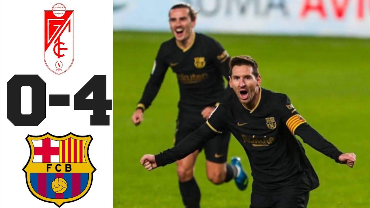 Granada 0-4 Barcelona: Messi và Griezmann lập cú đúp nghiền nát Granada